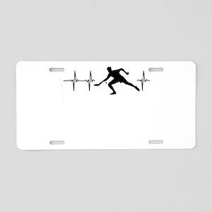 My heart beats for tableten Aluminum License Plate