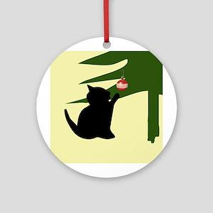 Cat Swatting Christmas Bulb Ornament