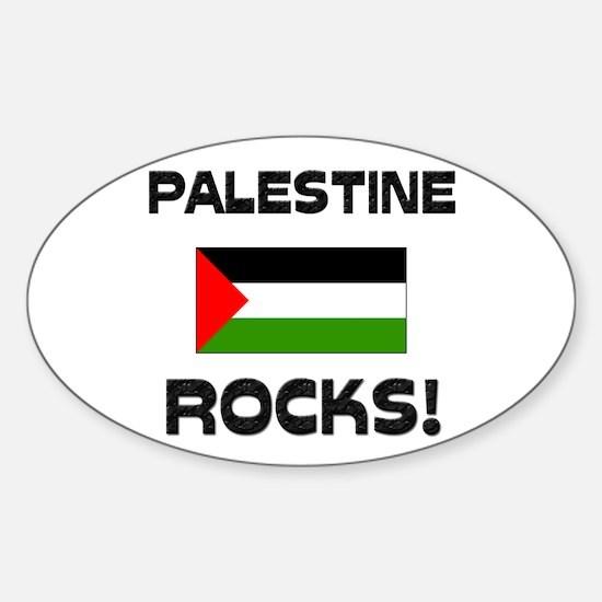 Palestine Rocks! Oval Decal
