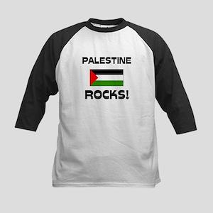 Palestine Rocks! Kids Baseball Jersey