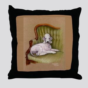 Bedlington-Her Royal Highness Throw Pillow