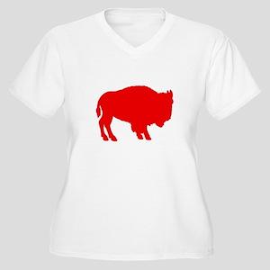 Red Buffalo Women's Plus Size V-Neck T-Shirt