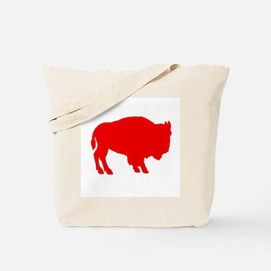Red Buffalo Tote Bag