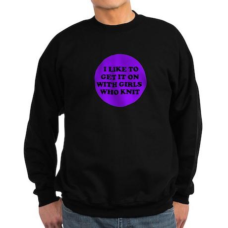 Get it On With Girls Who Knit Sweatshirt (dark)