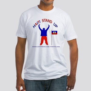 REP HAITI STAND UP Fitted T-Shirt