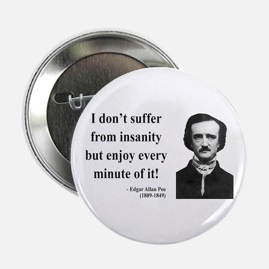 """Edgar Allan Poe 17 2.25"""" Button"""