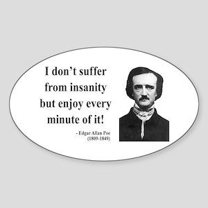 Edgar Allan Poe 17 Oval Sticker