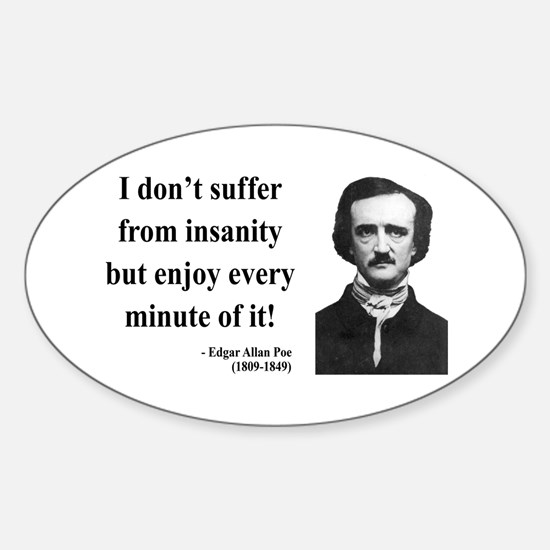 Edgar Allan Poe 17 Oval Decal