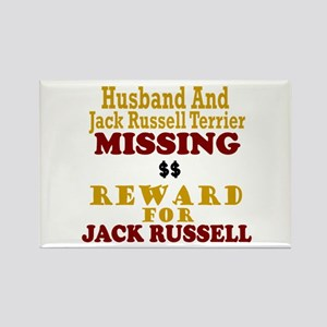 Husband & Jack Russell Terrier Missing Rectangle M