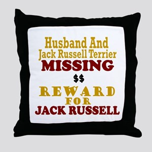 Husband & Jack Russell Terrier Missing Throw Pillo