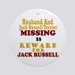 Husband & Jack Russell Terrier Missing Ornament (R