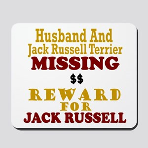 Husband & Jack Russell Terrier Missing Mousepad