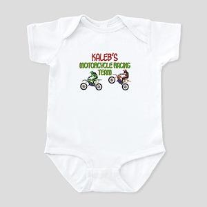 Kaleb's Motorcycle Racing Infant Bodysuit