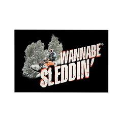 Wannabe Sleddin' II Rectangle Magnet (10 pack)