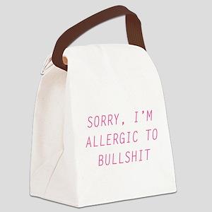 Sorry, I'm Allergic To Bullsh Canvas Lunch Bag