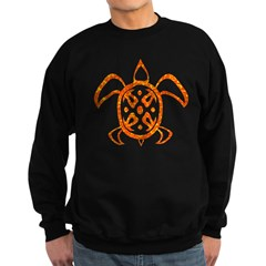 Orange Sea Turtle Sweatshirt (dark)
