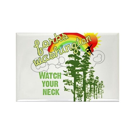 Forks Washington Twilight Rectangle Magnet