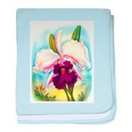 Gorgeous Orchid Vintage Painting Print baby blanke