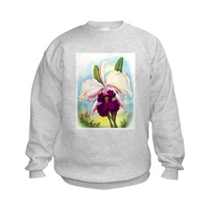 Gorgeous Orchid Vintage Painting Print Sweatshirt
