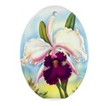 Gorgeous Orchid Vintage Painting Print Oval Orname