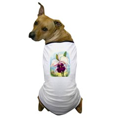 Gorgeous Orchid Vintage Painting Print Dog T-Shirt