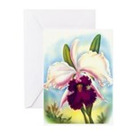 Gorgeous Orchid Vintage Painting Print Greeting Ca