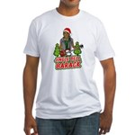 Barack and Roll Funny Obama S Fitted T-Shirt