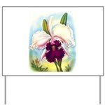 Gorgeous Orchid Vintage Painting Print Yard Sign