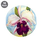 "Gorgeous Orchid Vintage Painting Print 3.5"" Button"