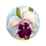 Gorgeous Orchid Vintage Painting Print Button
