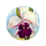 Gorgeous Orchid Vintage Painting Print Button