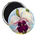 Gorgeous Orchid Vintage Painting Print Magnets