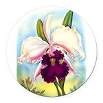 Gorgeous Orchid Vintage Painting Print Round Car M