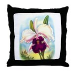 Gorgeous Orchid Vintage Painting Print Throw Pillo
