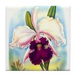 Gorgeous Orchid Vintage Painting Print Tile Coaste