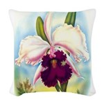 Gorgeous Orchid Vintage Painting Print Woven Throw