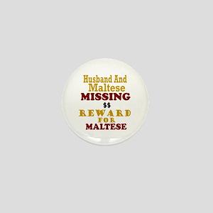 Husband & Maltese Missing Mini Button