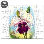 Gorgeous Orchid Vintage Painting Print Puzzle