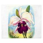Gorgeous Orchid Vintage Painting Print King Duvet