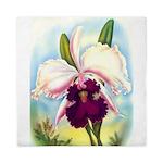 Gorgeous Orchid Vintage Painting Print Queen Duvet