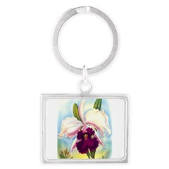 Gorgeous Orchid Vintage Painting Print Keychains