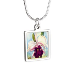 Gorgeous Orchid Vintage Painting Print Necklaces