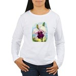 Gorgeous Orchid Vintage Painting Print Long Sleeve