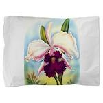 Gorgeous Orchid Vintage Painting Print Pillow Sham
