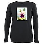 Gorgeous Orchid Vintage Painting Print T-Shirt