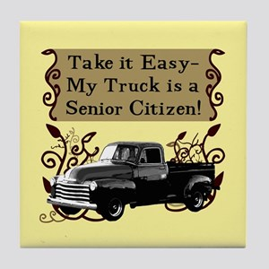 Senior Citizen Truck Tile Coaster