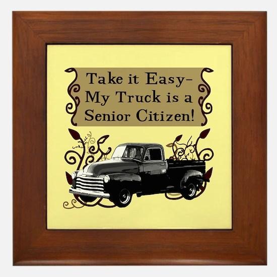 Senior Citizen Truck Framed Tile