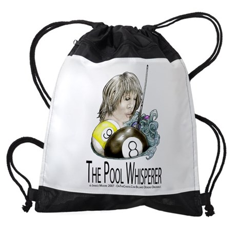 The Pool Whisperer Drawstring Backpack