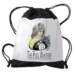 The Pool Whisperer Drawstring Bag