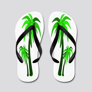 Palm Trees - Greens Flip Flops